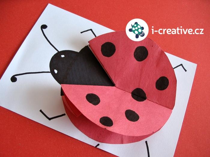 beruška z papíru tvoření s dětmi