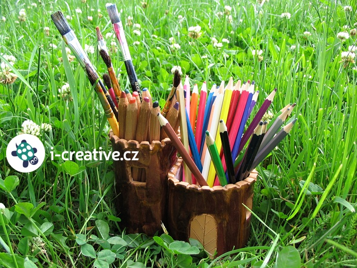 keramika nápad - stojánek na pastelky