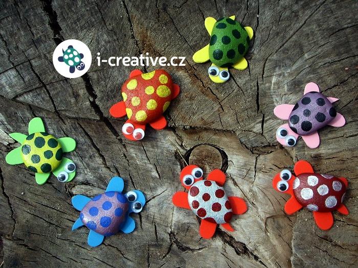 zvířátka - želvy z kamínků