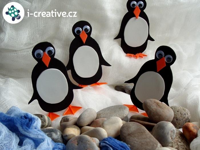 tučňáci z moosgummi