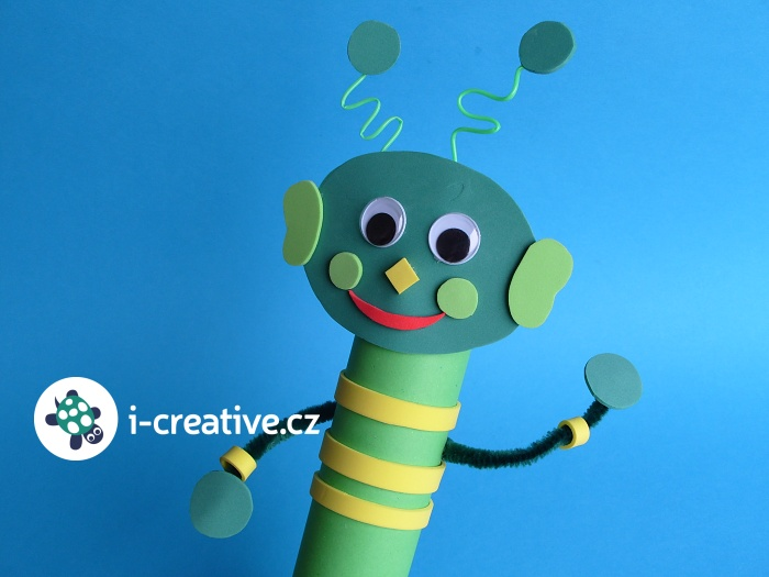 tvoření pro děti z roličky a moosgummi