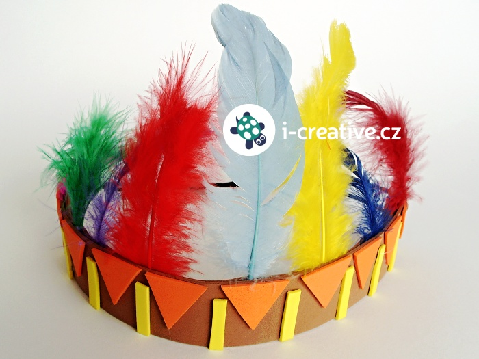 návod jak vyrobit indiánskou čelenku