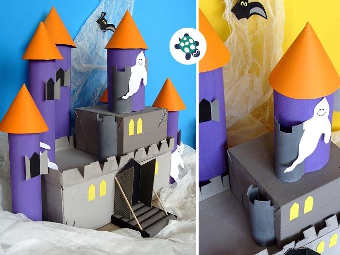 jak vyrobit hrad z krabice a roliček