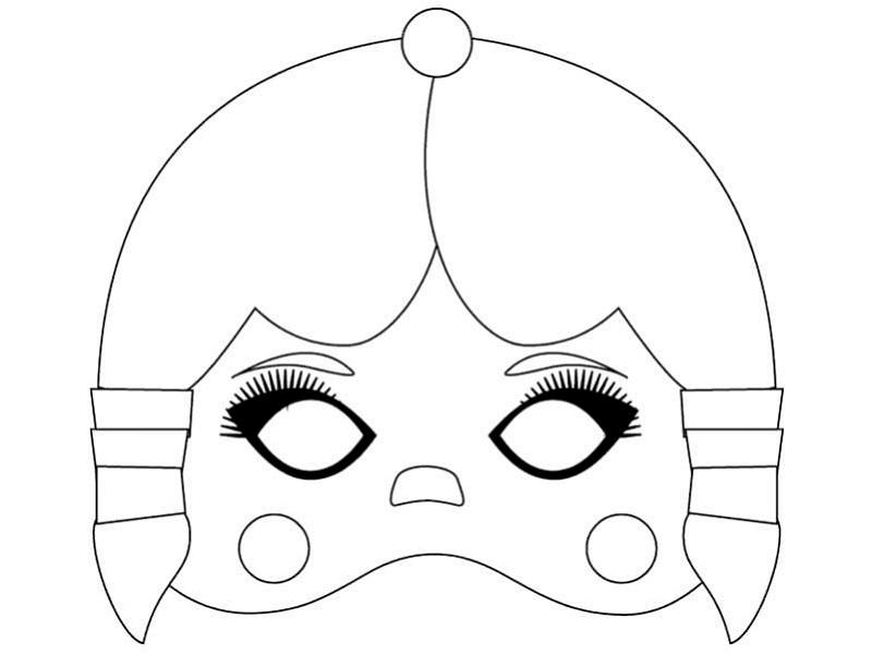 Karnevalové masky – šablony k vytisknutí