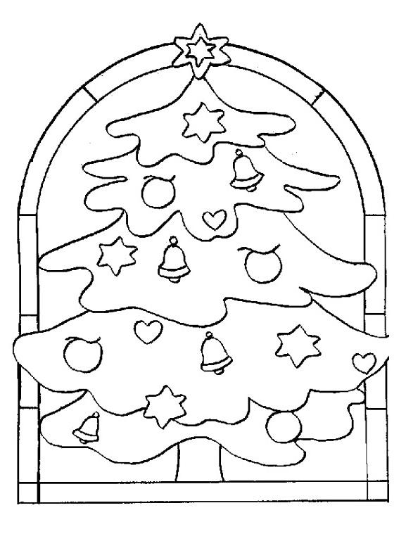 Vánoční stromeček – omalovánky k vytisknutí