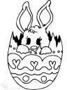 králíček ve velikonočním vajíčku