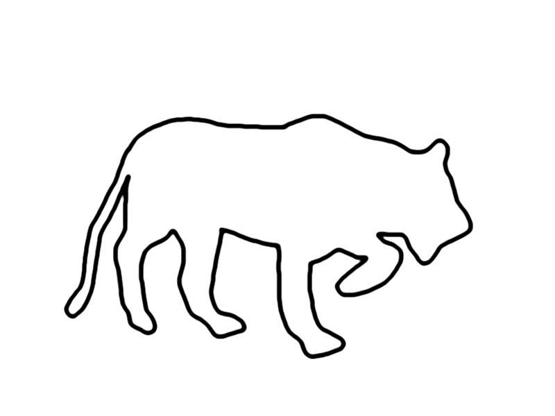 Obrysy zvířat – pojmenuj a vymaluj zvíře