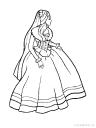omalovánka princezna k vytisknutí