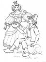 omalovánka pohádková princezna