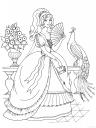 omalovánka princezna v krásných šatech
