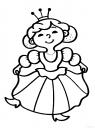 omalovánka malá princezna
