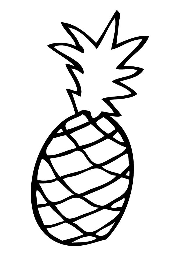 вершине ананас черно белый картинки вместе