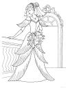 princezna omalovánka k vytisknutí
