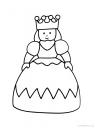 omalovánka princezna s korunkou