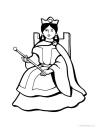 královna omalovánka