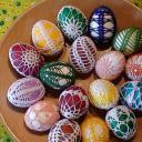 oháčkovaná velikonoční vajíčka