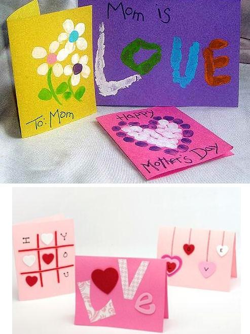 Как сделать открытку маме на день мамы  799
