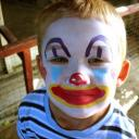 klaun - malování na obličej