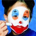 malování na obličej - inspirace klaun