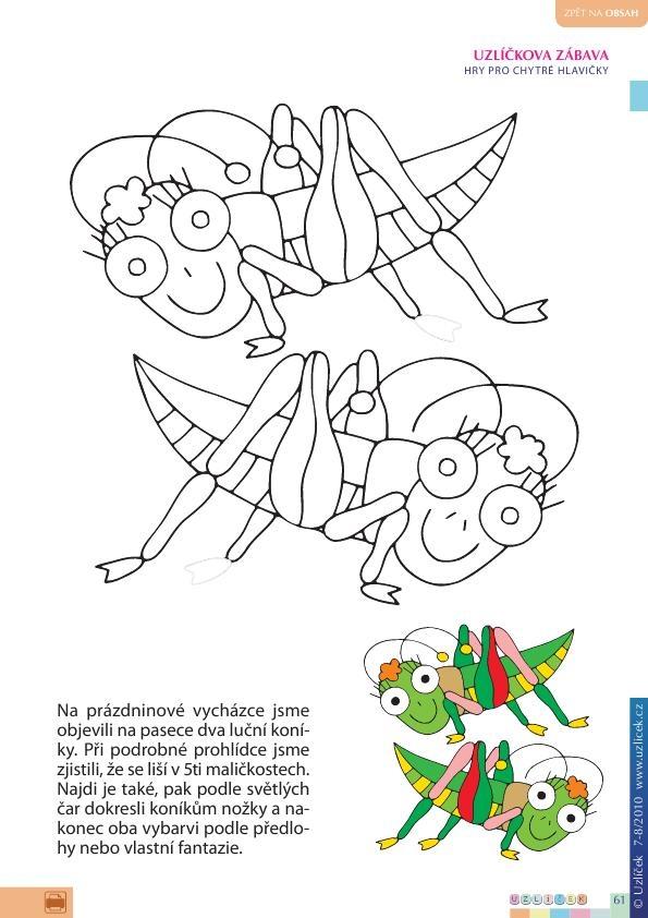 Pracovni Listy Pro Predskolaky Tema Leto Deti Na Axipix