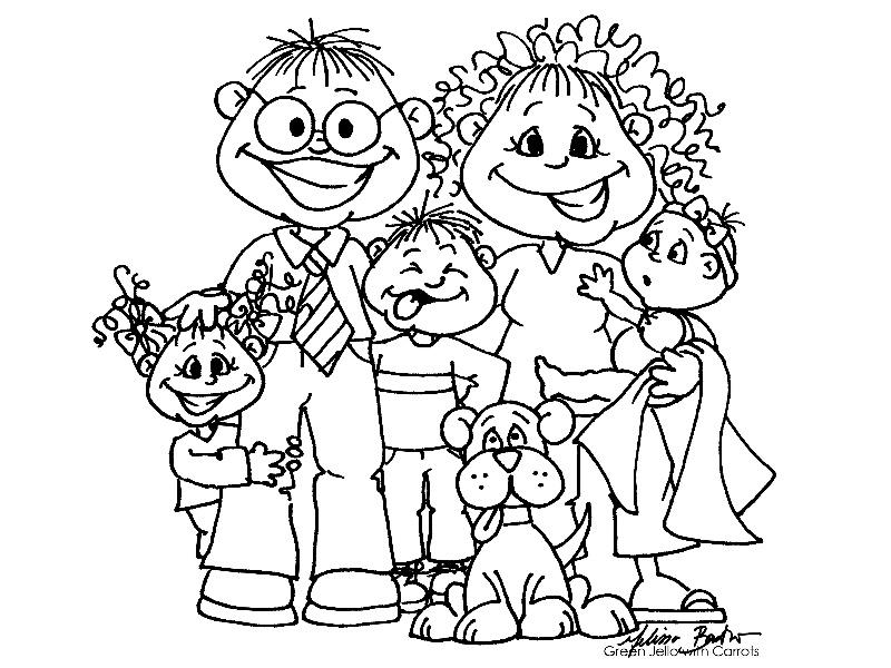Image result for rodiče a děti omalovánky