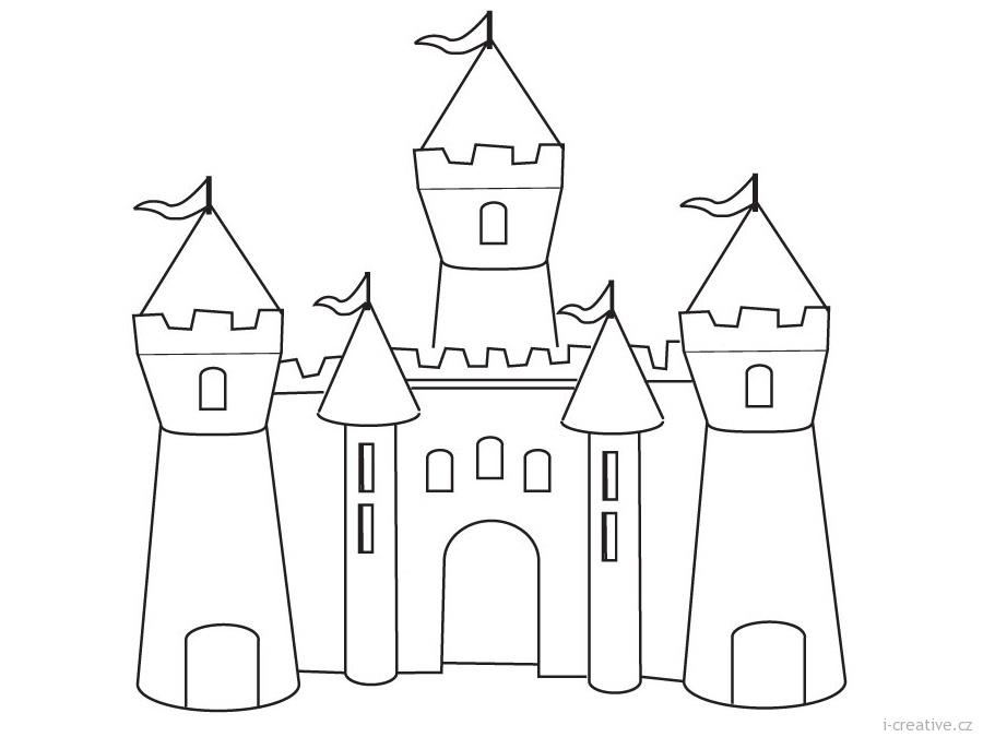 Раскраски замки принцесс
