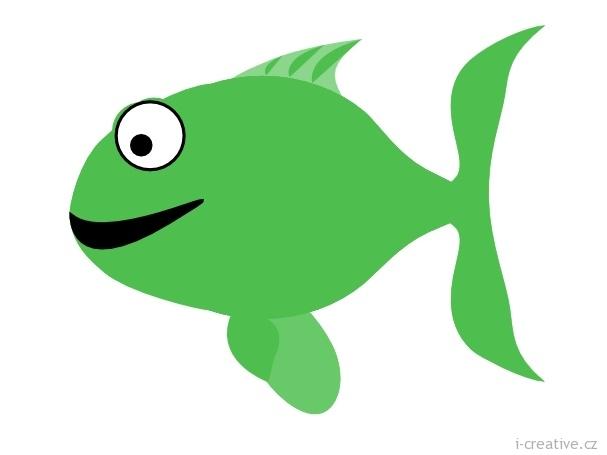 Ryby – omalovánky a šablony