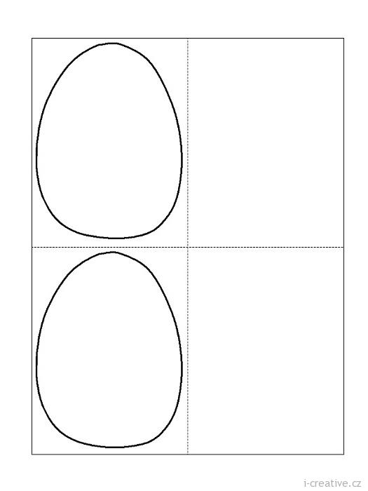 Vejce šablony na velikonoční tvoření k vytisknutí