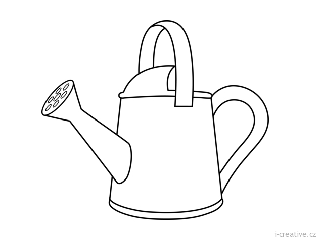 hoe garden tool coloring pages - photo#13