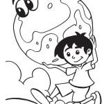 chlapec držící Zemi