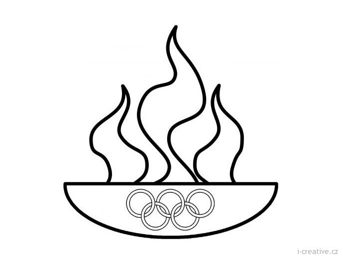 Олимпийские символы раскраска 4