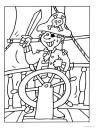 omalovánka pirát na lodi