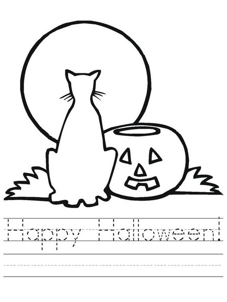 scary black cat coloring pages - photo#18