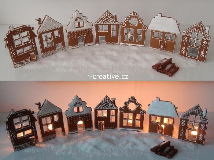 vesnička z perníkových domků