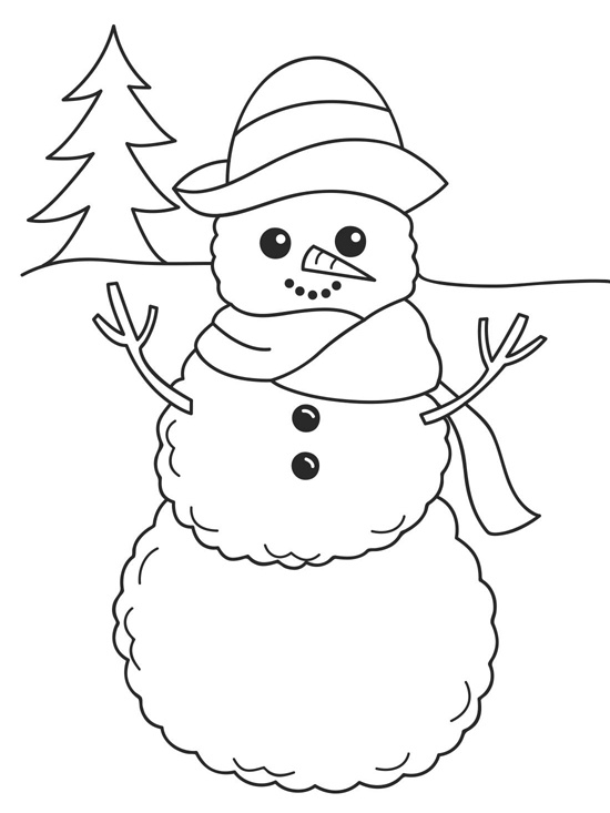 january coloring pages for preschoolers - photo#9