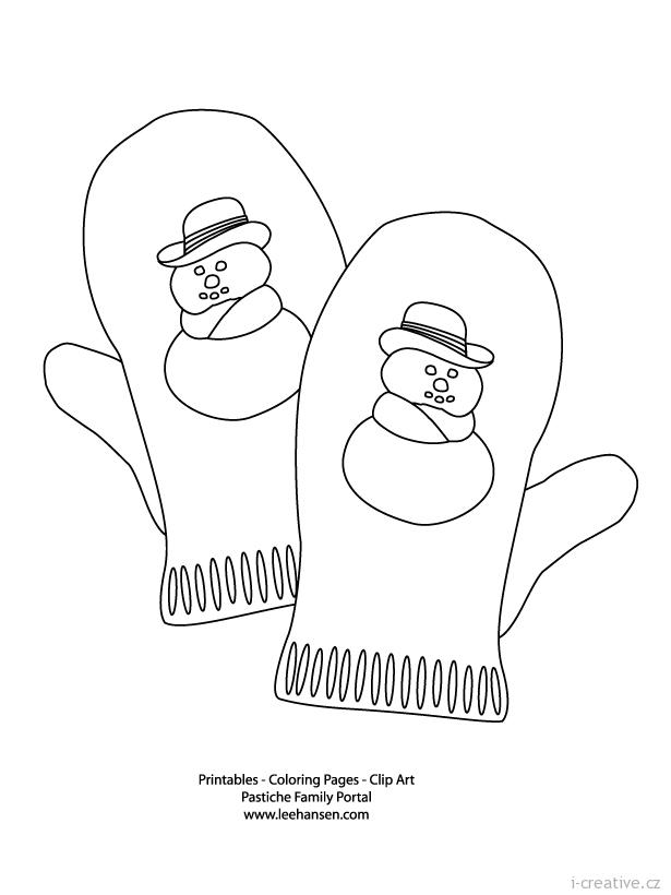 Раскраска для детей рукавичка 86