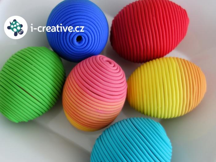 návod jak ozdobit velikonoční vajíčka polymerovou hmotou