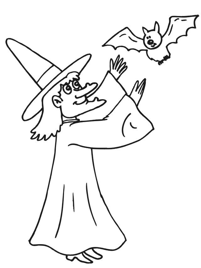 Čarodějnice omalovánky - pálení čarodějnic, májka   i