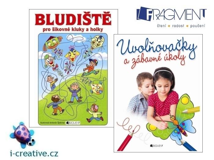 Soutěž o o knihy Bludiště pro šikovné děti a Uvolňovačky a zábavné úkoly, Fragment