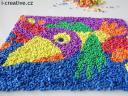 mozaika z pěnových čtverečků - motiv papoušek, výrobce Wiky