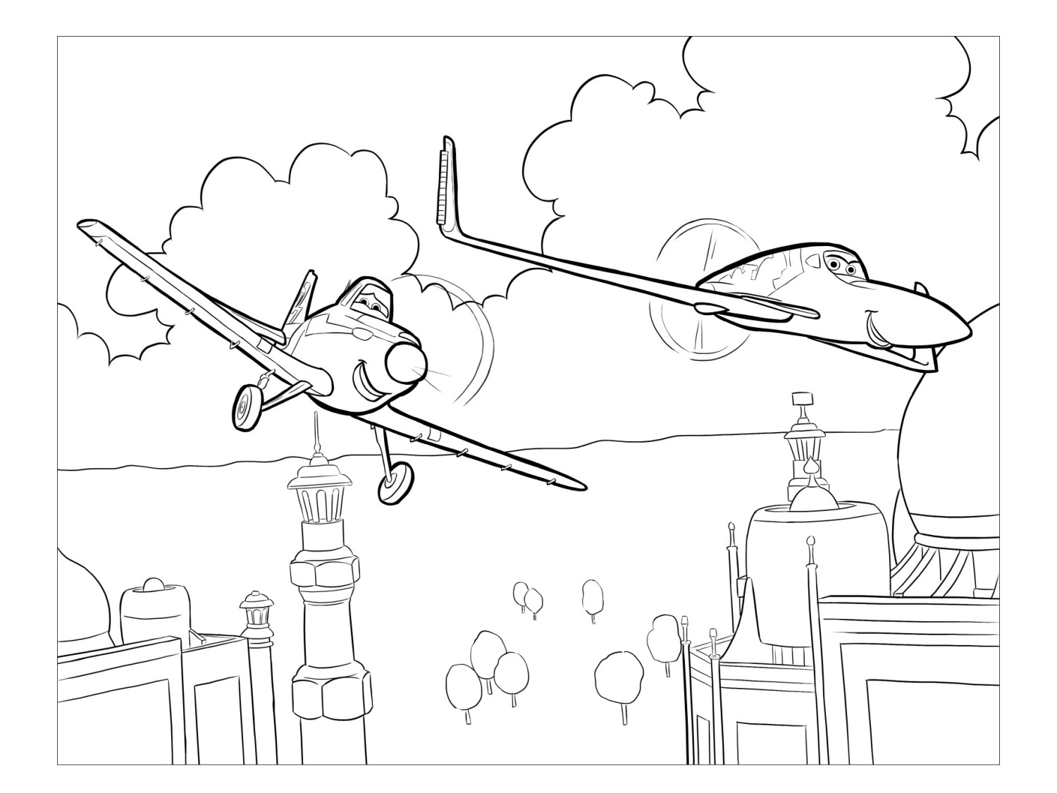 disney planes coloring pages skipper - photo#19
