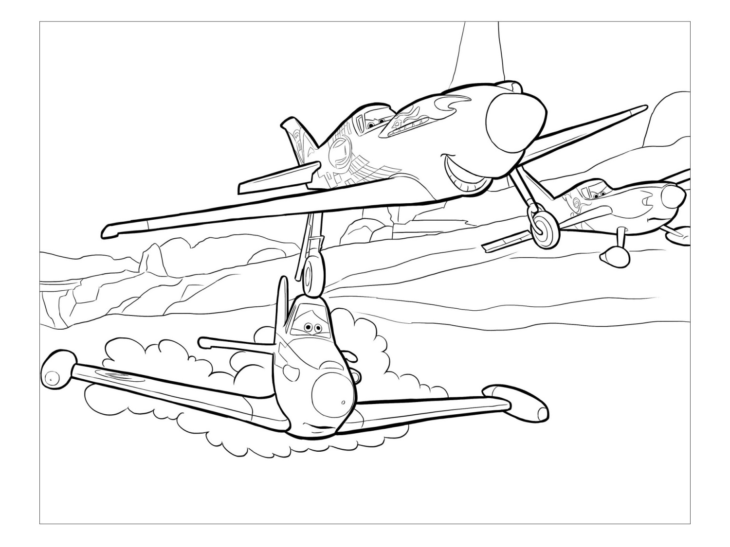 disney planes coloring pages skipper - photo#21