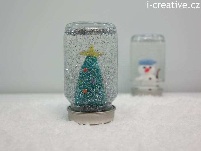 jak vyrobit vánoční sněžítko