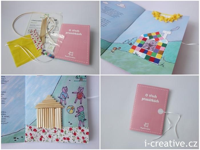 Magická krabička růžová - knížka O třech prasátkách
