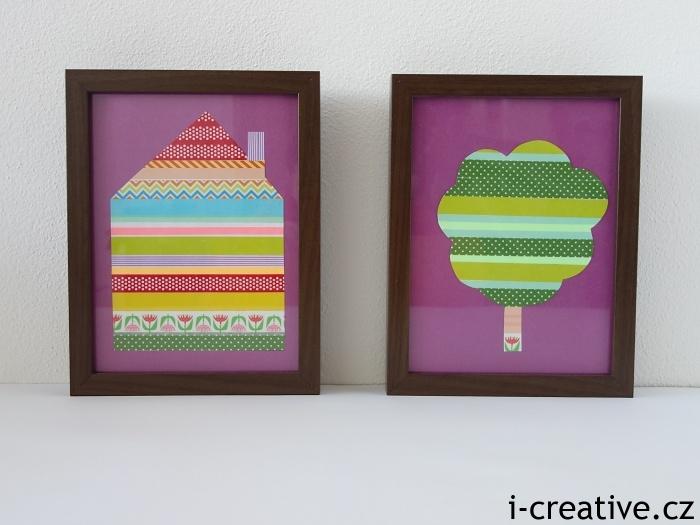 washi obrázky do dětského pokoje