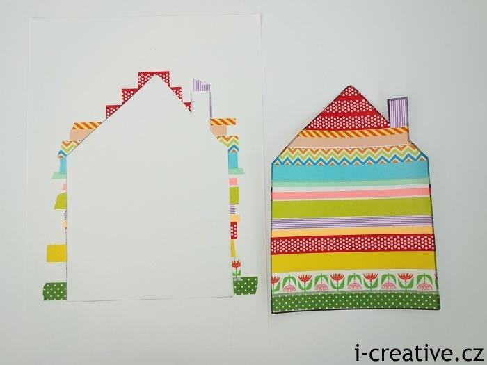 siluety obrázků z washi pásek