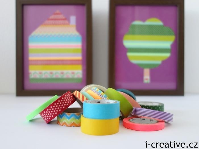 washi pásky inspirace do dětského pokoje
