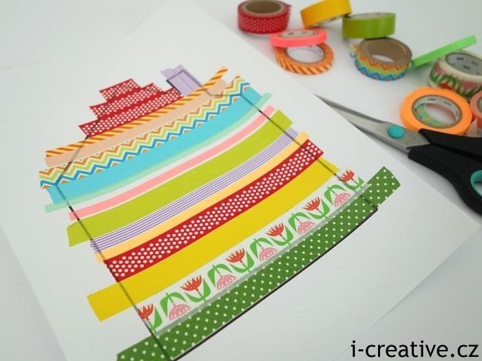 domeček - obrázek z japonských dekoračních pásek