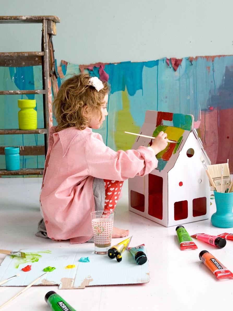Как сделать домик для детей на улице своими руками из картона 22