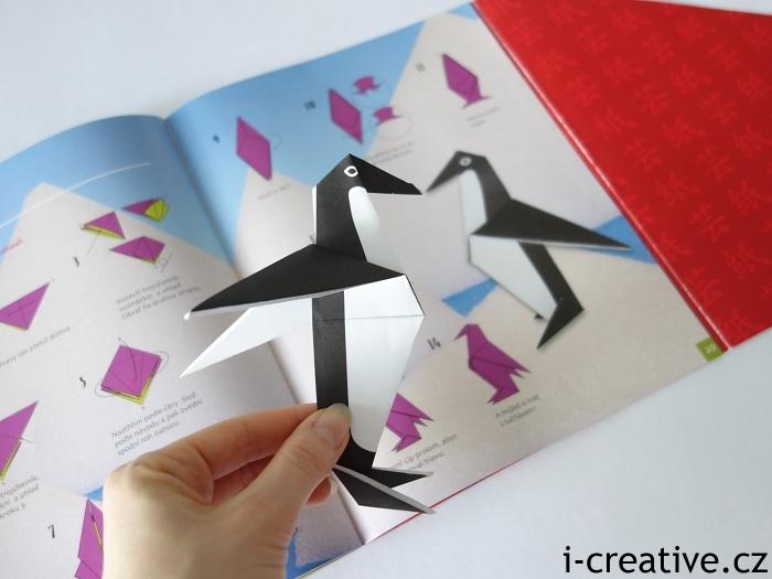 origami tučňák
